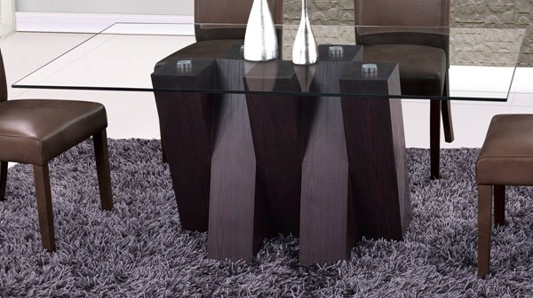 D796 Series Wenge Glass Dining Table GL-D796DT