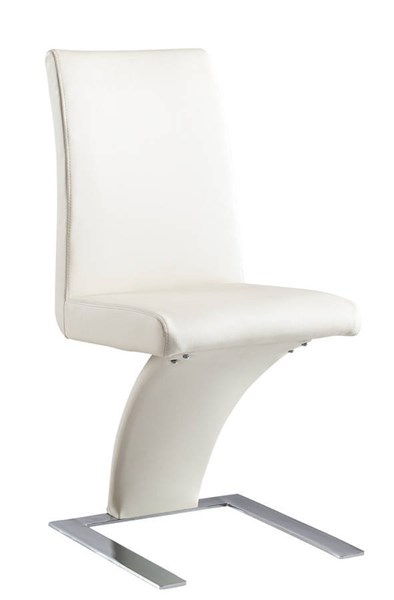 D88 Series Contemporary Beige PVC Metal Dining Chair GL-D88NDC-BEI