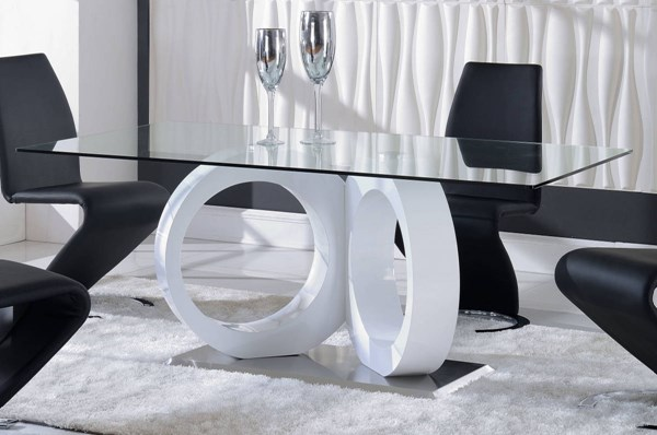 Global Furniture D9002 White Dining Table GL-D9002DT-M