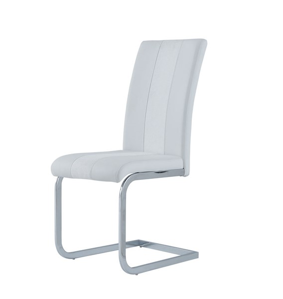 4 Global Furniture D915 White PU Dining Chairs GL-D915DC-WHT
