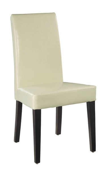 DG020 Series Beige Brown White PVC Wood Dining Chairs GL-DG020-DC-KD-M-VAR