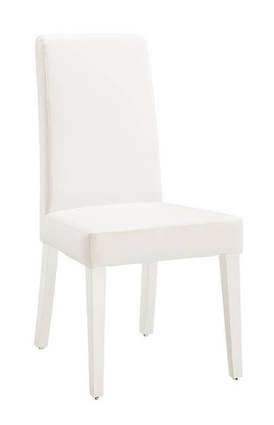 2 (DG020 Series) Glossy White PVC Wood Dining Chairs GL-DG020DC-WH-KD-M