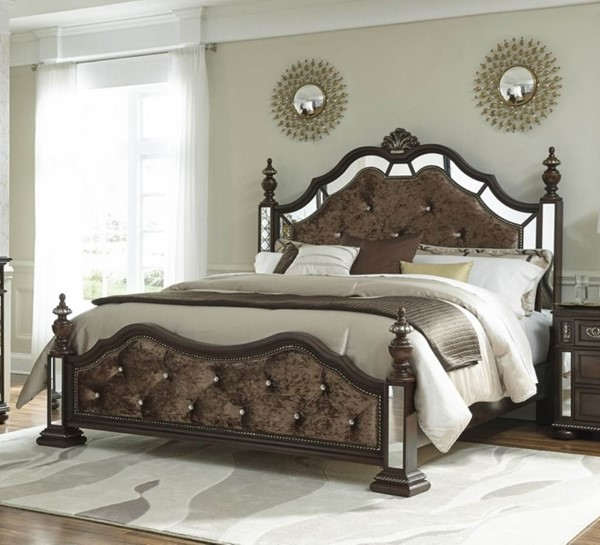 Global Furniture Diana Brown Full Poster Bed GL-DIANA-BR-FB