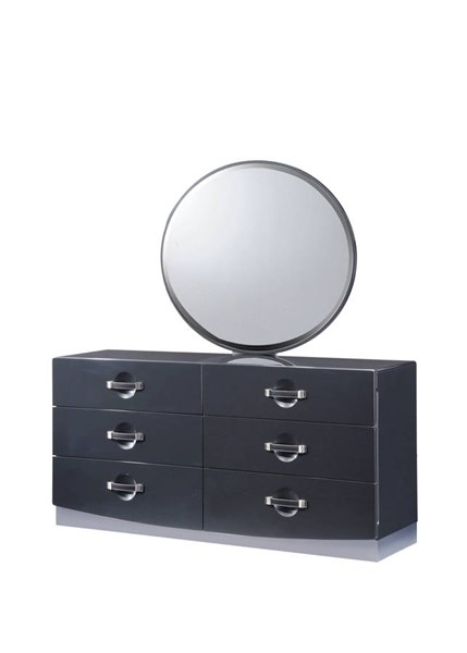Dolce Dark Grey High Gloss Dresser GL-DOLCE-136-DR