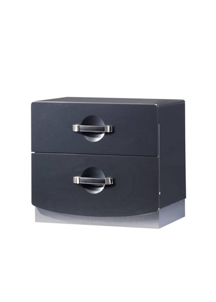 Dolce Dark Grey High Gloss Nightstand GL-DOLCE-136-NS
