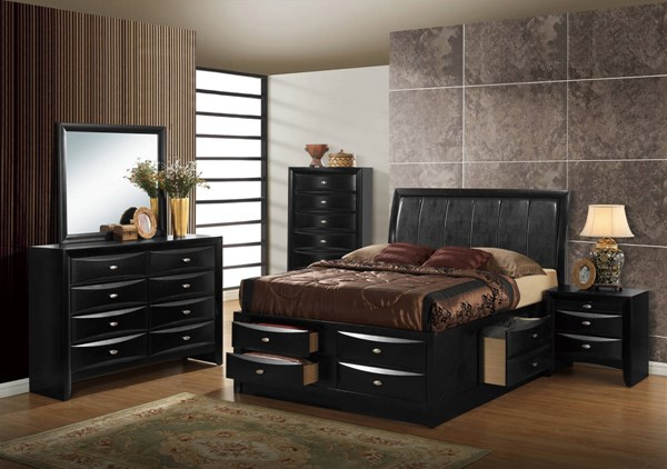Hayden Black Merlot Master Bedroom Set GL-Hayden