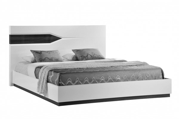 Global Furniture Hudson Zebra Grey White King Platform Bed GL-HUDSON-988-EKB