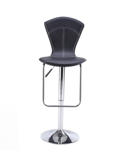 2 (M260 Series) Black Chrome PU Bar Stools GL-M260BS-BL-M