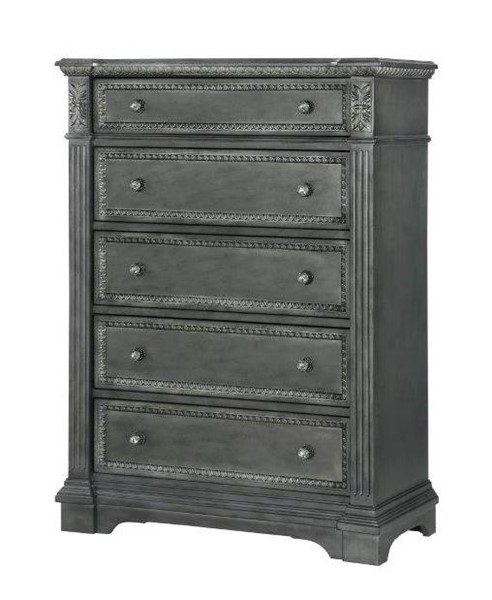 Global Furniture Marseille Grey Drawer Chest GL-MARSEILLE-GREY-CH