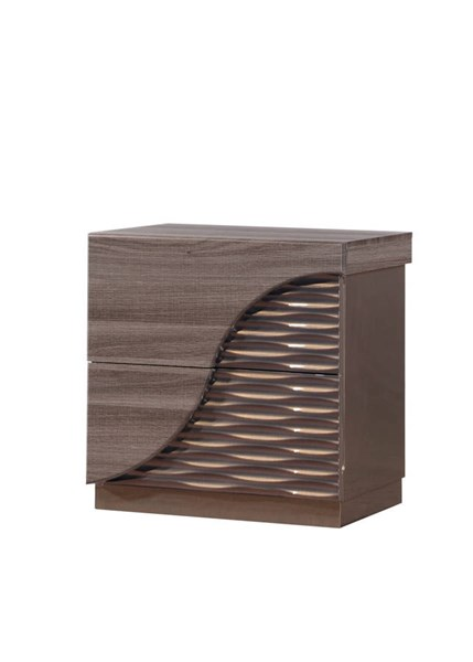 North Zebra Wood Gold Line Nightstand GL-NORTH-138-NS