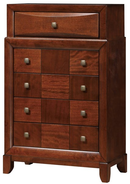 Oasis Oak Wood Square Knobs Chest GL-OASIS-0072C-CH