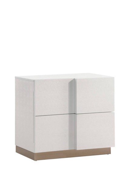 Paris Cream Wood Drawers Nightstand GL-PARIS-128-NS