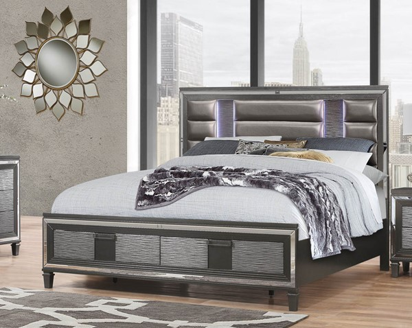 Global Furniture Pisa Grey King Drawer Bed GL-PISA-KB