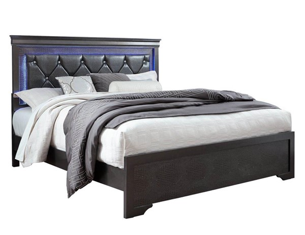Global Furniture Pompei Grey King Panel Bed GL-POMPEI-GR-KB