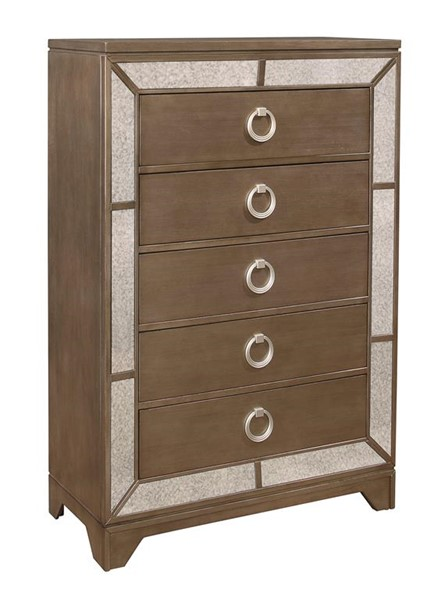 Global Furniture Portofino Gold Drawer Chest GL-PORTOFINO-GOLD-CH