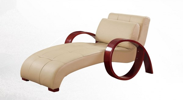 Cappuccino Mahogany Bonded Leather MDF Relax Chaise GL-R963-RLX