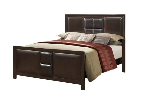 Simone Coco Brown 5pc Bedroom Set W Queen Bed The Classy