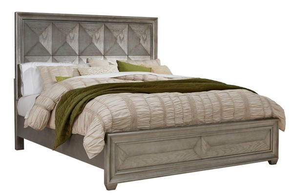 Global Furniture Soho Silver Queen Panel Bed GL-SOHO-SILVER-QB