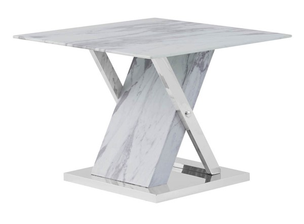 Global Furniture T1274 Faux Marble End Table GL-T1274E