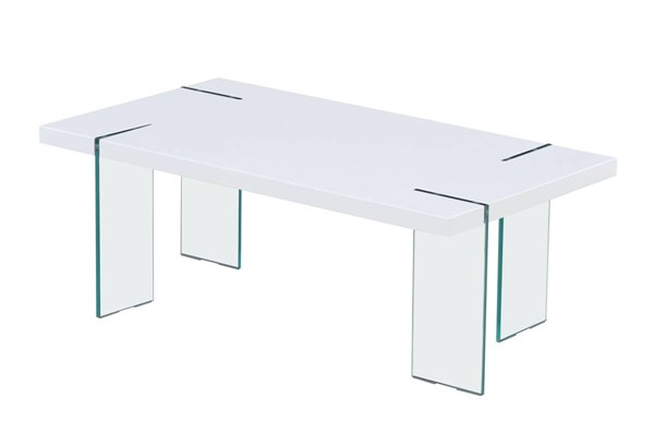 T1325 Series White High Gloss Coffee Table GL-T1325C
