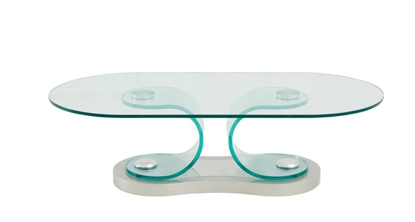 Global Furniture T1713 Clear Glass Coffee Table GL-T1713CT