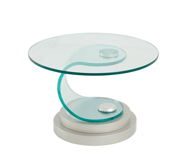 Global Furniture T1713 Clear Glass End Table GL-T1713ET