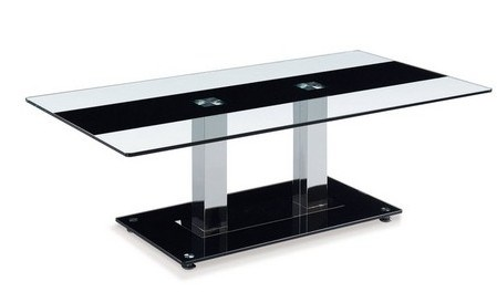 Black Gl Silver Stainless Steel Tail Table
