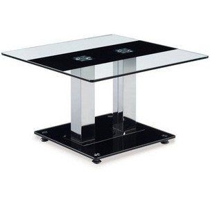 Black Gl Silver Stainless Steel Square End Table T2108e
