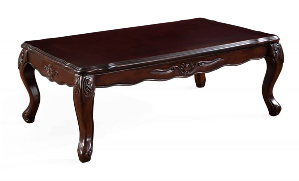 T2433 Series Wood Queen Anne Legs & Rectangle Coffee Table GL-T2433C-LONG-TABLE