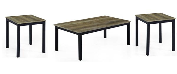 T3743 Series Black 3 In 1 Pack Coffee Table Set GL-T3743C-E