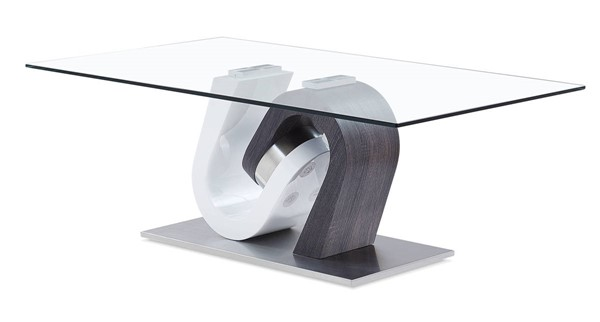 Global Furniture T4127 Dark Grey White Coffee Table GL-T4127CN