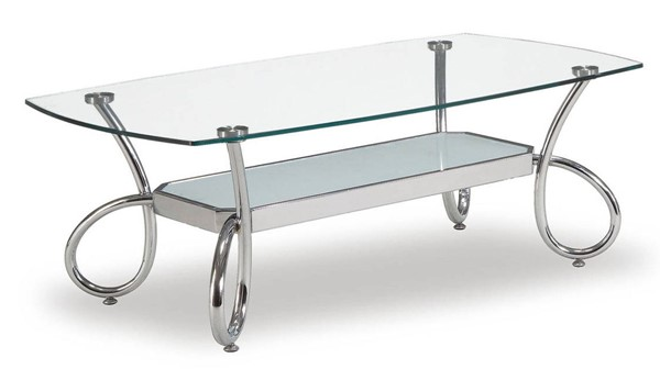 Global Furniture T559 Silver Coffee Table GL-T559C