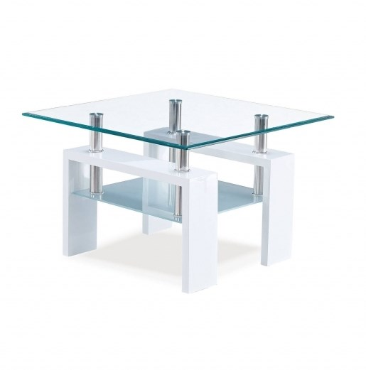 Global Furniture T648 Glossy White End Table GL-T648ET-M