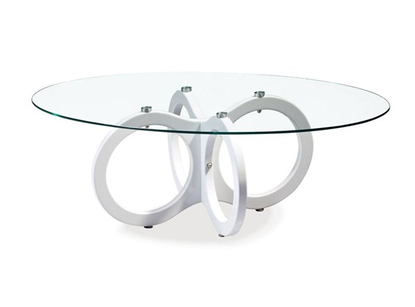 Global Furniture T715 High Gloss White Coffee Table GL-T715CT