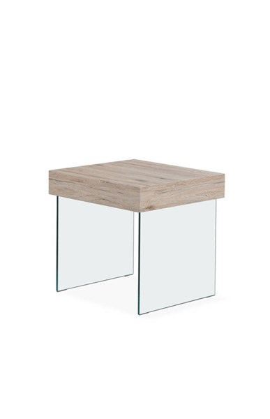 Sanremo Square Tempered Glass Legs End Table GL-T80E