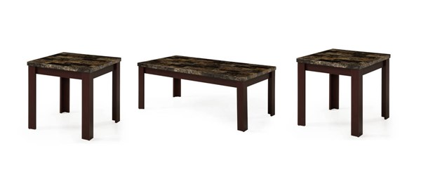 T850 Series Red Brown 3 in 1 Pack Coffee Table Set GL-T850C-E