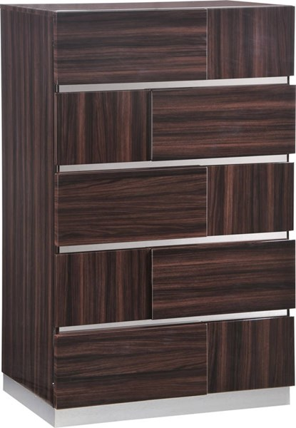 Tribeca Wood Grain High Gloss Chest GL-TRIBECA-110-CH