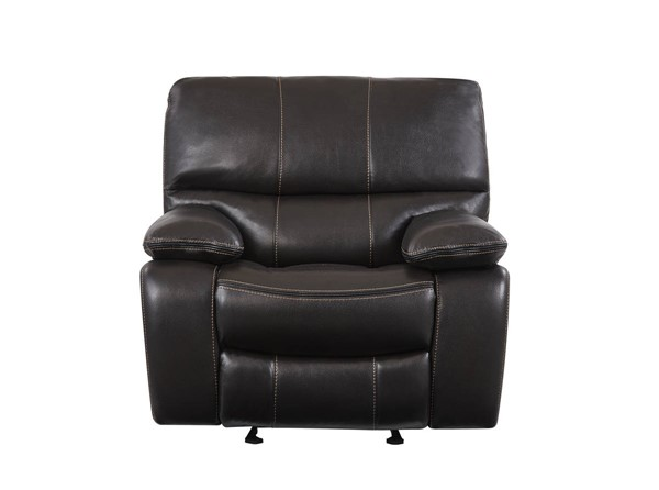 Global Furniture U0040 Espresso Black Glider Recliner GL-U0040-ESPRESSO-GR