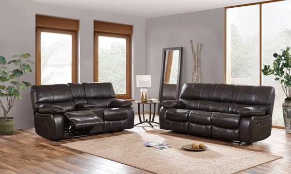Global Furniture U0040 Espresso Black 3pc Living Room Set GL-U0040-ESPRESSO-RS-CRLS-GR