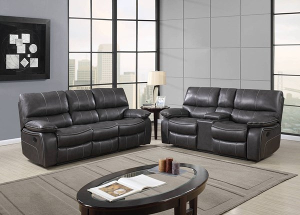 Global Furniture U0040 Grey Black 2pc Living Room Set GL-U0040-RS-CRLS