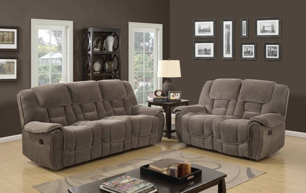 U101 Series Lisa Taupe Fabric 3pc Living Room Set GL-U101-RS-RL-RR