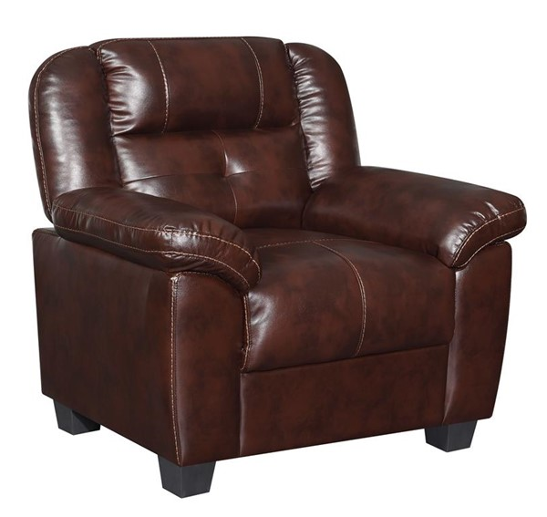 Global Furniture U17016 Brown Leather Gel Chair GL-U17016-AGNES-COFFEE-CH
