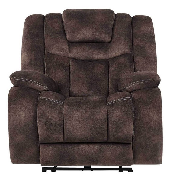 Global Furniture U1706 Agnes Espresso Fabric Power Recliner GL-U1706-AGNES-ESPRESSO-PR-W-PHR