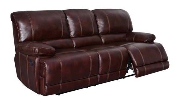 U1953 Series Agnes Coffee Leather Gel Reclining Sofa GL-U1953-AGNES-COFFEE-R-S-M