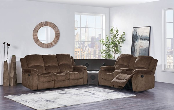 Global Furniture U3118C 3pc Sectionals with Stereo GL-U3118C-SEC-VAR2