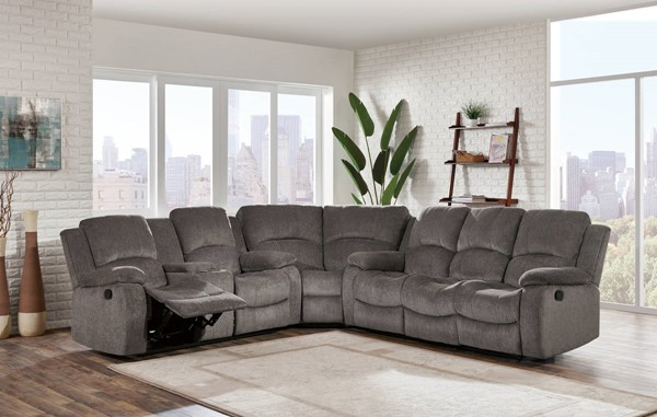 Global Furniture U3118C Mocha 3pc Sectional GL-U3118C-SUBARU-MOCHA-SECTIONAL