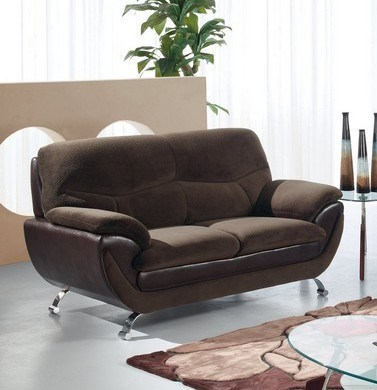 Champion Chocolate Wood Leather Loveseat GL-U4160-CHO-LS