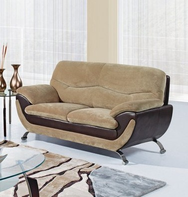 Champion Froth Wood Leather Cushion Back Loveseat GL-U4160-FRO-LS