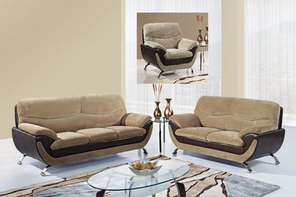 Champion Froth Wood Leather 3pc Living Room Set GL-U4160-FRO-SET