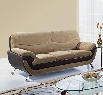 Champion Froth Wood Bonded Leather Cushion Back Sofa GL-U4160-FRO-SF